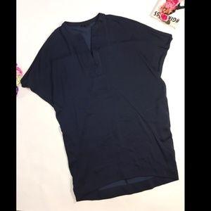 Banana Republic dark blue tunic shirt mini dress M